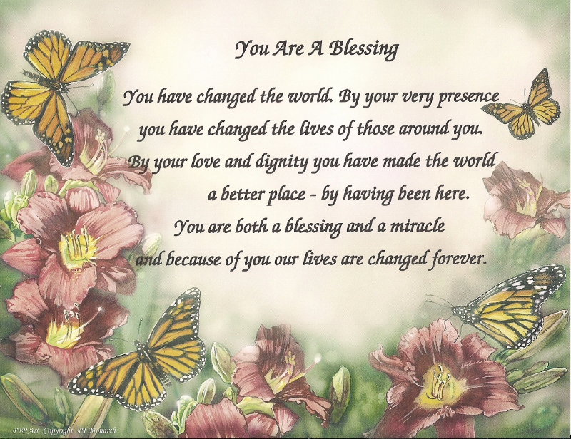 You Are A Blessing A Message Of Gratitude And Praise Keepsakes